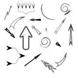Set of black arrows. Vector illustration Stock Photos