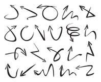 Set of black arrows. Vector Illustration. Stock Photos