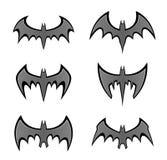 Set of black bat Royalty Free Stock Photography