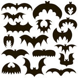 A set of black bats. On a white background Stock Photo