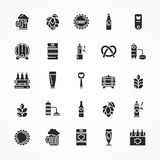 Set of black beer icons Stock Images