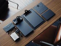 Set of black blanc elements. 3d render Royalty Free Stock Photo
