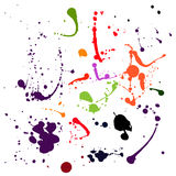 Set of black blots and ink splashes Royalty Free Stock Images