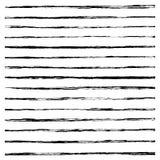 Set of Black brush strokes. Stock Images