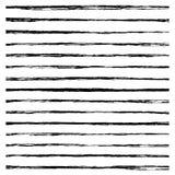 Set of Black brush strokes. Royalty Free Stock Photos