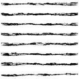 Set of Black brush strokes. Stock Photography