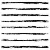 Set of Black brush strokes. Royalty Free Stock Photography