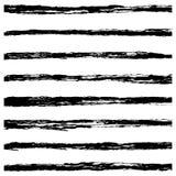 Set of Black brush strokes. Royalty Free Stock Images