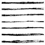 Set of Black brush strokes. Stock Photos