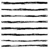 Set of Black brush strokes. Royalty Free Stock Photo