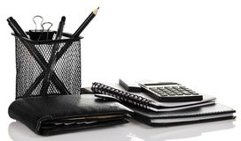 Set of black business accessories Stock Photos