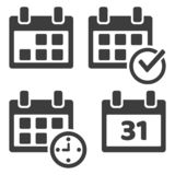 Set of calendar icons. Vector illustration vector illustration