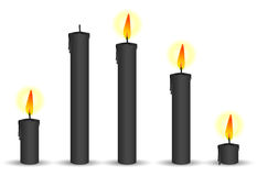 Set of black candle Royalty Free Stock Image