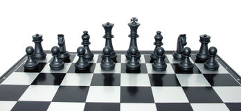 Set of black chess ready to fight Royalty Free Stock Photo