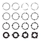 Set of black circle  arrows Royalty Free Stock Image