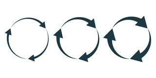 Set of black circular arrows. Vector illustration royalty free stock images