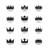 Set of  black crowns Royalty Free Stock Photo