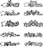 Set of black decorative elements Stock Photography