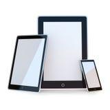 Set of black electronic device. 3d Illustration Royalty Free Stock Photos