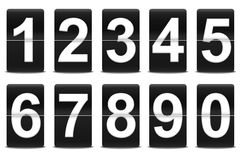 Set of black flip numbers Royalty Free Stock Photo