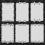 Set of black frames Stock Images