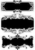 Set of black frames Stock Image