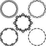 Set of black frames Royalty Free Stock Image