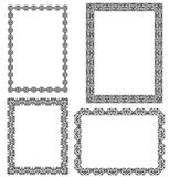 Set of black frames Stock Photography