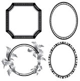 Set of black frames - vector Stock Photography