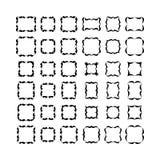 Decorative frames. Set of black frameworks isolated on white background. Set 1 Royalty Free Stock Photo