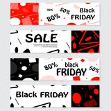 Set of black friday banners. Design for web background. Royalty Free Stock Images