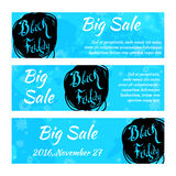 Set of black friday banners. Design for web background. Stock Image
