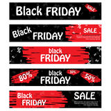 Set of black friday banners. Design for web background. Royalty Free Stock Photos