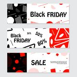 Set of black friday banners. Design for web background. Stock Photos
