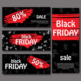 Set of black friday banners. Set of black friday banners. Design for web background. Royalty Free Stock Image