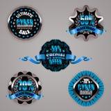 Set of black friday labels Stock Image