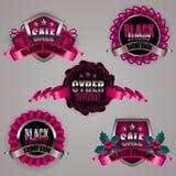 Set of black friday labels Royalty Free Stock Image