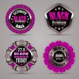Set of black friday labels Stock Photo