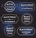 Set of black friday labels Royalty Free Stock Photo