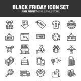 BLACK FRIDAY & SALE ICON SET vector illustration