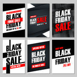 Set of Black Friday Sale banners. Special offer, discount up to 75% off, shop now, ultimate sale. Royalty Free Stock Photography