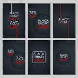 Set of Black Friday Sale banners. Stock Photography
