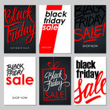 Set of Black Friday Sale flyers with handwritten elements. royalty free stock image