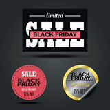 Set of Black Friday sale stickers design. Set of Black Friday sale vector stickers design Royalty Free Stock Photography