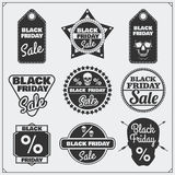 Set of Black Friday Sale tags, banners, badges, labels and design elements. Stock Image