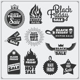 Set of Black Friday Sale tags, banners, badges, labels and design elements. Stock Images
