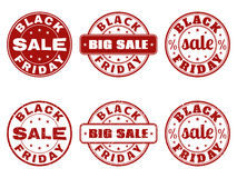 Set of Black Friday stamps Royalty Free Stock Photo