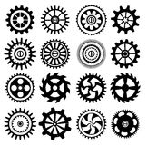 Set of black gears Royalty Free Stock Photos