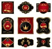 Set black gold-framed labels. Illustration set black gold-framed labels - vector Royalty Free Stock Photo