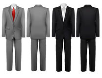 Set of black and grey suits. Stock Photography